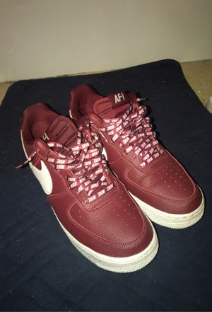 Nike maroon nba Air Force 1 size 10.5 for Sale in Galloway, OH