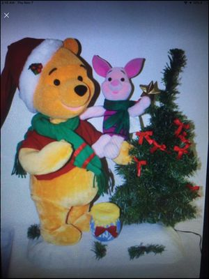 Disney Animated Musical Christmas Winnie The Pooh and Piglet - VERY RARE for Sale in New Port Richey, FL