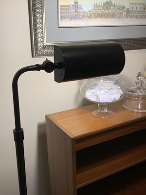 Lamp library tall lamp adjustable head for Sale in Bellevue, WA