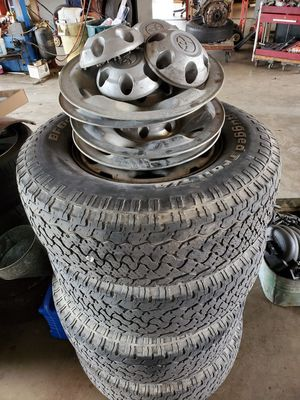2005-2010 Toyota Tacoma steel wheels with tires for Sale in San Antonio, TX