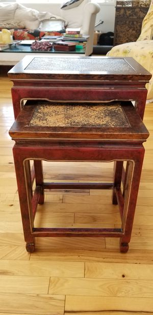 Set of 2 Antique Nesting Tables for Sale in Santa Monica, CA
