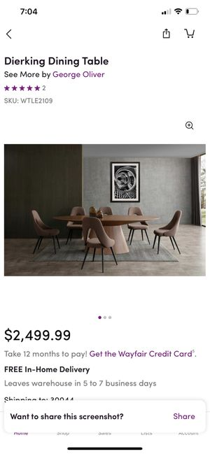 Dierking Dining Table for Sale in Lawrenceville, GA