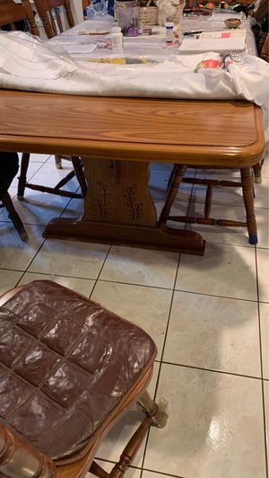 Dining room table and chairs at 12 chairs $ 100.00 for Sale in Paterson, NJ