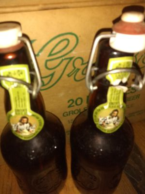 Grolasch lager beer bottles, box of 19 for Sale in Cleveland, OH