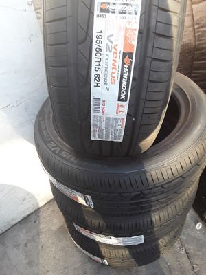 Set of Hankook 195/50/15 Free installation & balancing for Sale in Santa Ana, CA