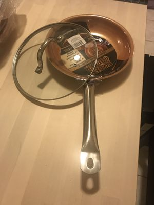"""KADEEM COPPER 10"""" FRY PAN. PFOA & PTFE FREE. NON-STICK. NON-SRATCH. FAST/EVEEM HEATING. BRAND NEW. NEVER USED. $14.99. for Sale in Chicago, IL"""