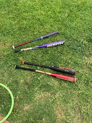 2 softball n 2 baseball bats for sale for Sale in Walnut, CA