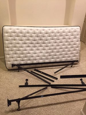Adjustable Metal bed frame including twin mattress for Sale in Union City, CA