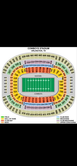 2 lower level Tickets Rams at Dallas Cowboys this Sunday DEC 15th for Sale in Little Elm, TX