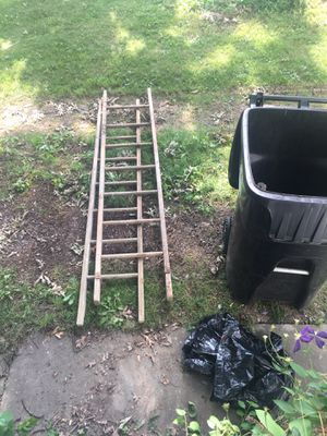 Vintage ladder equipment. There is an old extension ladder the length of my front porch as well. All goes to best offer. for Sale in Cleveland, OH