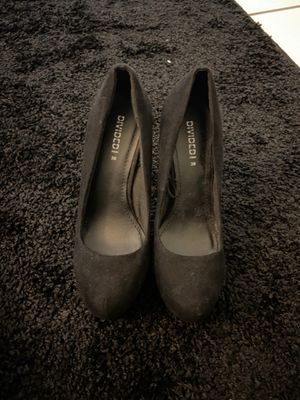 DIVIDED(by H&M) Suede Black Chunky Heels Size EUR 38 for Sale in Washington, DC