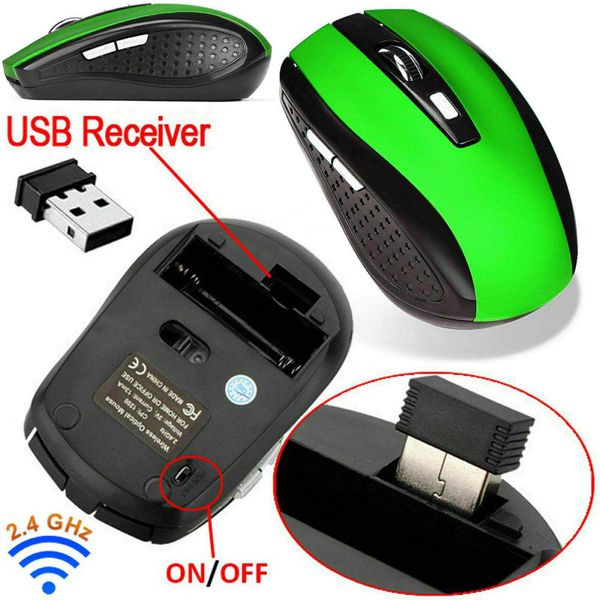 2.4GHz Wireless Optical Mouse Mice & USB Receiver For PC Laptop Computer NEW