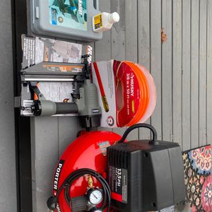 Porter Cable Pancake Air Compressor And Accessories for Sale in Mount Vernon, WA
