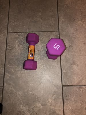 CAP Barbell Neoprene Coated Dumbbells, Pair, 5 Lb for Sale in Goose Creek, SC