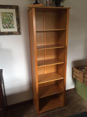 Light wood bookshelf for Sale in Portland, OR
