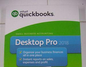 QuickBooks Intuit Desktop Pro 2018 for Sale in Pompano Beach, FL