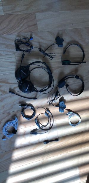 Headsets random cables for Sale in Neptune City, NJ