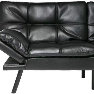 Sofa Bed Memory Foam Couch Sleeper Daybed Foldable Convertible Loveseat, Single, Black for Sale in Hacienda Heights, CA