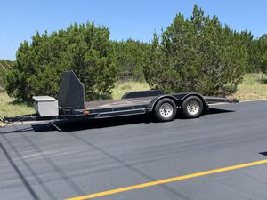 18 ft car hauler with wind guard for Sale in Hutto, TX