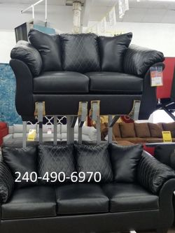 In Stock Ashley Furniture Black High Quality Sofa And Loveseat for Sale in Beltsville,  MD