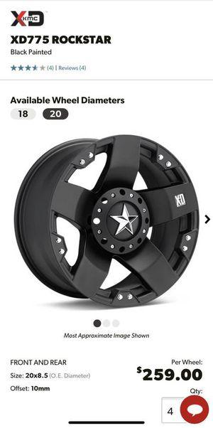 """20"""" Rockstar black rims for Ford F-250 F-350 Excursion 8x170 for Sale in Aurora, CO"""