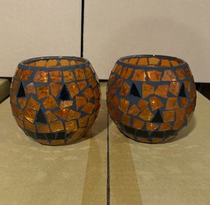 Halloween Pumpkin Candle Holders for Sale in Pomona, CA
