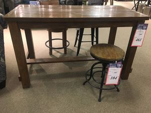 Wood Rectangular counter table with 4 stools by Ashley Home for Sale in Philadelphia, PA
