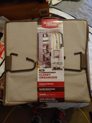 Better Homes and gardens 11 compartment closet organizer for Sale in Philadelphia, PA