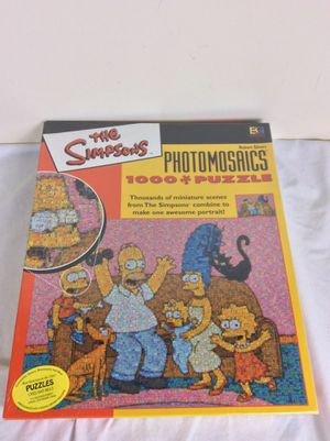 NOS Simpsons Photomosaic Family Jigsaw Puzzle 1026pc. Buffalo Games for Sale in Severn, MD