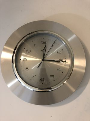 Silver Stainless Steel Clock for Sale in Germantown, MD