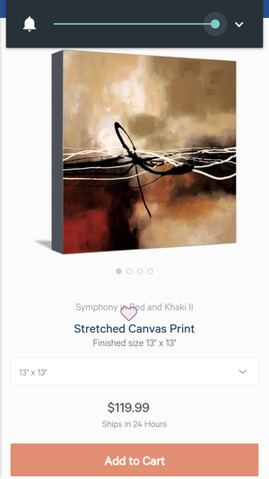 2 Piece Canvas Wall Art- Abstract - Symphony in Red and Khaki 1&2 for Sale in Phoenix, AZ