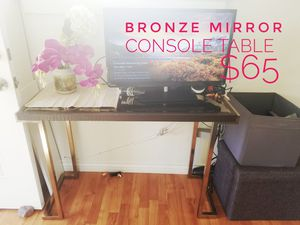 Bronze mirror console table! Gorgeous! for Sale in San Diego, CA