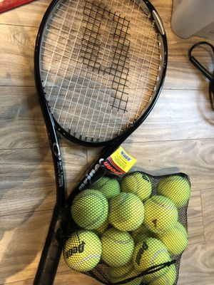 Prince O3 silver tennis racket for Sale in Chicago, IL