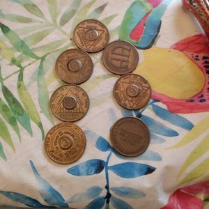 Seven Assorted Recovery Tokens for Sale in Andover, MN