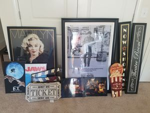 Theater room decor for Sale in Raleigh, NC