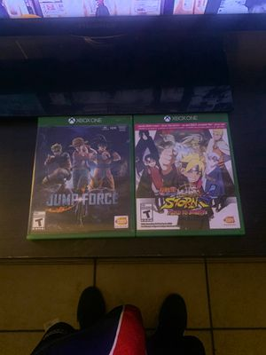 Jump force and naruto storm4 for Sale in North Las Vegas, NV