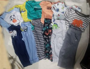 Lot of 6 Sets Boys Pajamas PJs Sleep Pants One Piece Bodysuits Sz 2T 24M for Sale in Westminster, CA