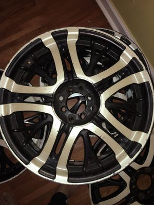four used black and chrome deep dish rims for Sale in Jersey City, NJ