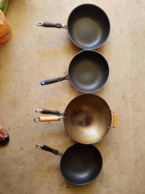 Non-sticken cooking pans and wok for Sale in Sugar Land, TX