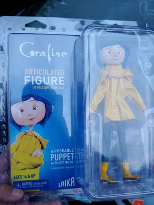 COROLINE articulated action figure in yellow raincoat (poseable) by NECA for Sale in Long Beach, CA