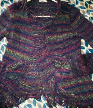 Colorful fringe cardigan Sweater for Sale in Tulsa, OK
