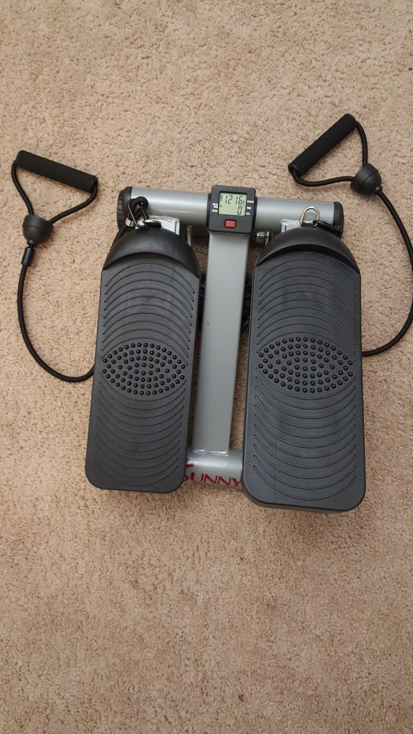 Sunny Health & Fitness Mini Stepper With Resistance Band
