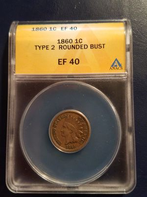 1860 1c Indian Head Penny Type 2 Certified for Sale in Laveen Village, AZ