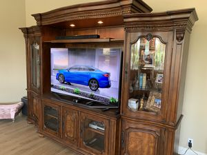 Solid Wood 10' Bernhardt Entertainment Center by Bernhardt - Price Negotiable for Sale in Yorba Linda, CA