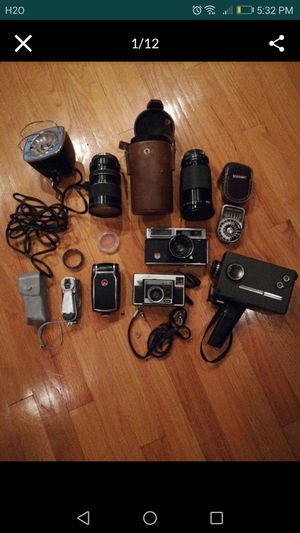 Vintage camera lot for Sale in Agawam, MA