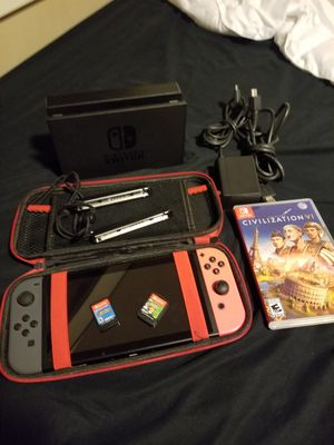 Nintendo switch bundle. Pokemon . And 4 other games. With protective case. for Sale in Auburn, WA