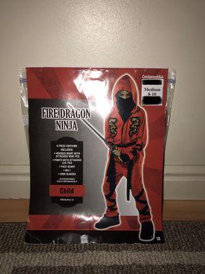 Fire Dragon Ninja Child Costume Medium 8-10 for Sale in West Jordan, UT