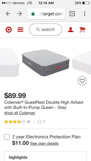 Coleman Air Mattress - used once for Sale in Austin, TX