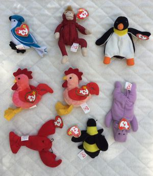 Vintage 90's Teenie Beanie Babies Bundle / Lot of 8 for Sale in Fresno, CA