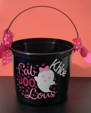 Personalized Halloween bucket for Sale in Mundelein, IL
